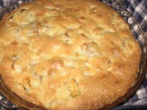 Greitas obuolių pyragas su manais