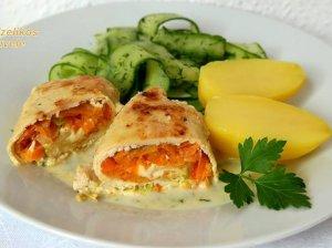 Skanieji vištienos suktinukai, įdaryti morkomis ir mocarela sūriu