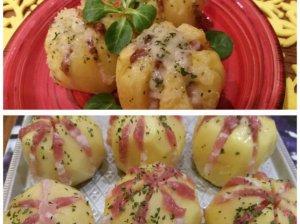 Stalo karalaitės - šonine įdarytos bulvės