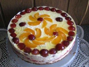 Jogurtinis-vaisinis maskarponės tortas