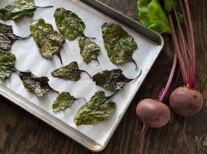 Burokėlių lapų traškučiai - sveika ir nesudėtinga