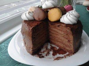"""Nuostabus šokoladinis tortas """"Triufelis"""""""