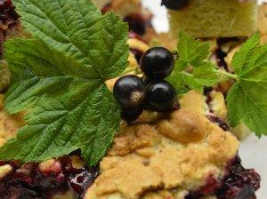 Trupininis pyragas su juodaisiais serbentais