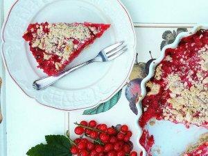 Trupininis raudonųjų serbentų pyragas