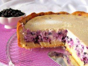 Varškės pyragas su mėlynėmis