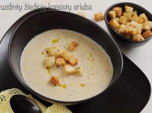 Orkaitėje paskrudintų žiedinių kopūstų sriuba - soti ir be galo skani!