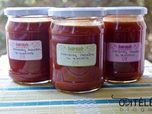 Naminis saldžiarūgštis pomidorų padažas su slyvomis