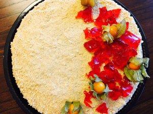 Medaus tortas Medutis su žele gabaliukais