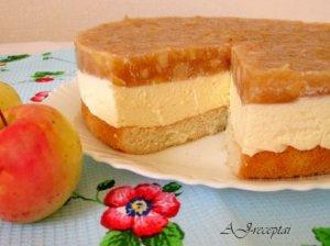 Gaivus varškės ir obuolių tortas
