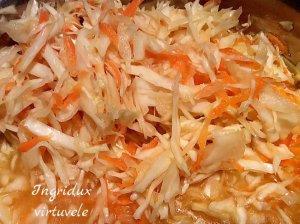 Marinuotų kopūstų salotos su morkomis