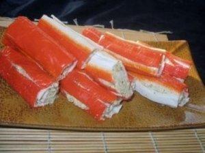 Sūriu įdarytos krabų lazdelės