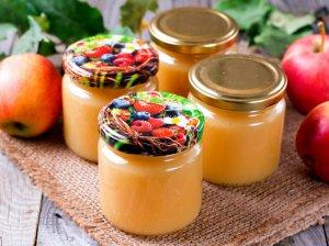 Obuolių tyrė be cukraus