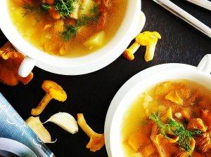 Voveraičių sriuba su bulvėmis ir daržovėmis