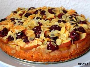 Greitas obuolių pyragas su uogomis