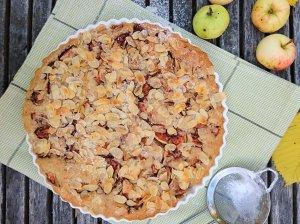 Veganiškas obuolių pyragas be kiaušinių ir pieno produktų