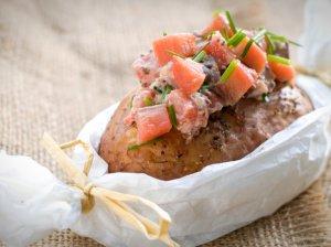 Bulvės su žuvies įdaru