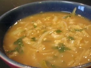 Svogūnų sriuba su konjaku