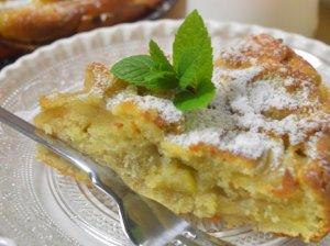 Drėgnas obuolių pyragas su rikota
