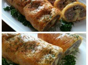 Mėsos ir sūrio vyniotinis