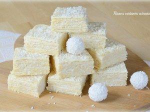 Kokosinis vaflių pyragas su maskarpone