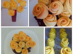 Sviestiniai sausainiai rožytės