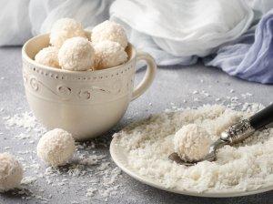 Sveiki kokosiniai saldainiai be cukraus