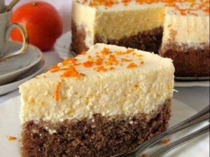 Kokosinis tortas su mandariniu varškės kremu