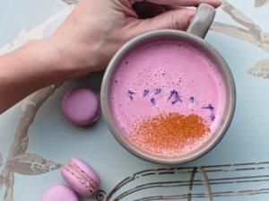 Rožinė Latte