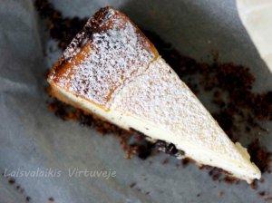 Varškės pyragas su razinomis - be galo skanus