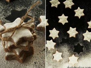 Migdoliniai cinamono sausainiai Žvaigždutės