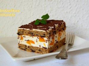 Gaivus tortukas su varške ir konservuotais abrikosais