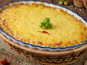 Bulvių ir raugintų kopūstų apkepas su mėsa