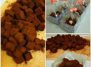 Naminiai pieninio šokolado triufeliai su kava ir druska