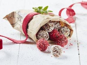 Kalėdiniai šokolado rutuliukai