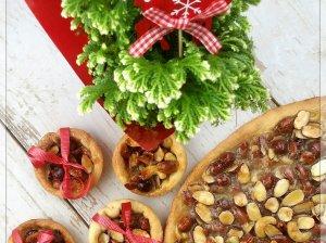 Kalėdinis karamelinis riešutų pyragas