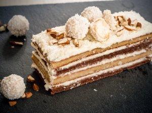 "Purus pyragas su kokosiniu kremu ""Raffaello"""