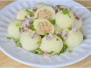 Virtų bulvių kukuliai su mėsa