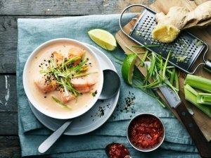 Azijietiška žuvies sriuba