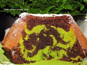 Margas šokoladinis keksas su špinatais