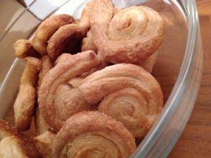 Sluoksniuotos tešlos sausainiai sraigės