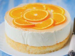 Lengvas jogurtinis žele tortas su apelsinais