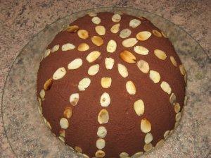Šokoladinis tortas kupolas