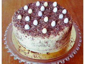 Karamelinis kavos tortas su maskarpone