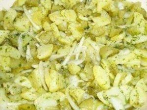 Švabų bulvių salotos