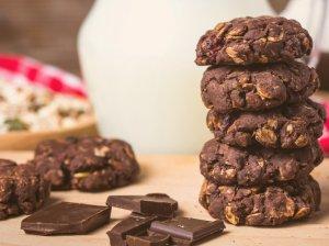 Šokoladiniai sausainiai be cukraus