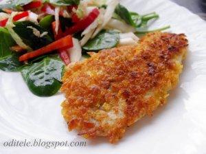 Traški žuvis keptuvėje