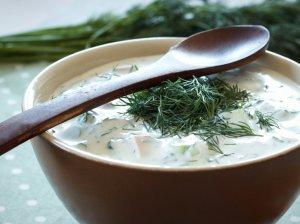 Šalta bulvių ir agurkų sriuba