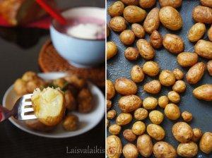 Orkaitėje keptos šviežios bulvytės