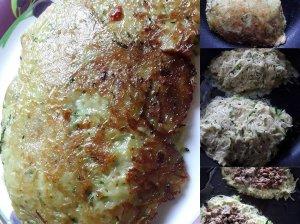 Bulvinių cukinijų blynai su mėsa