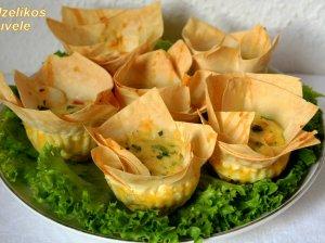 Lavašo omleto keksiukai su sūriu